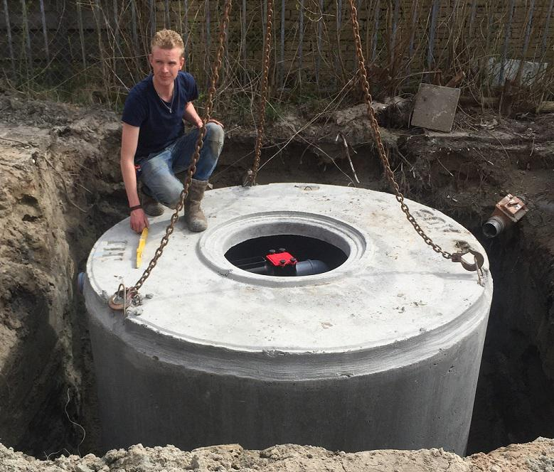 Betonnen regenwatertank 6m3